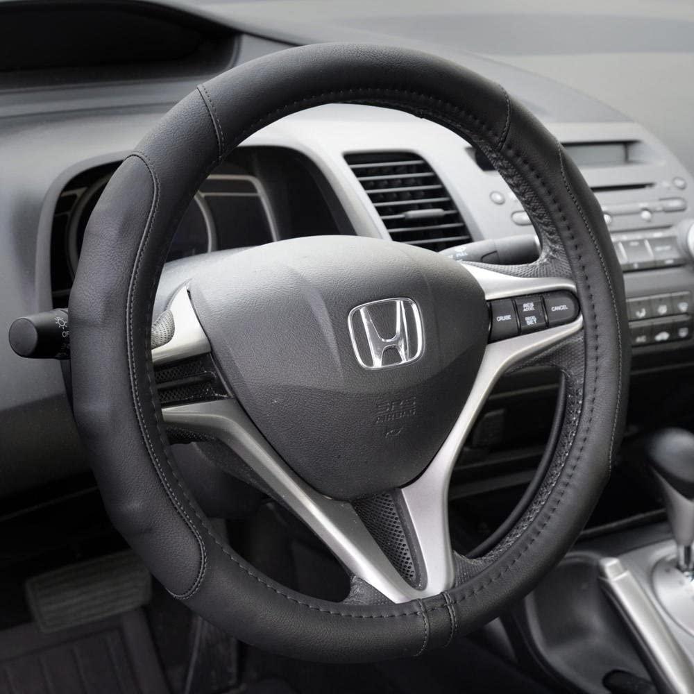 Housse de volant de voiture en cuir synthétique GripDrive Pro