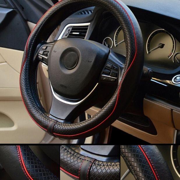 Housse de volant de voiture 15 pouces Universal Valleycomfy Auto